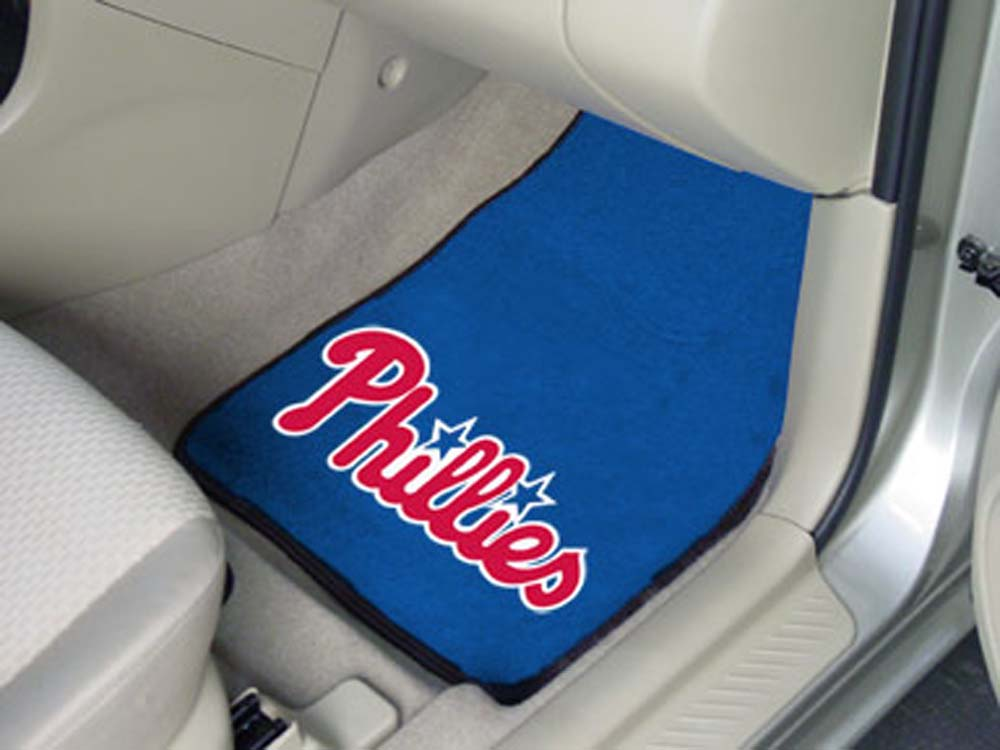 Philadelphia Phillies 27in x 18in Auto Floor Mat (Set of 2 Car Mats)