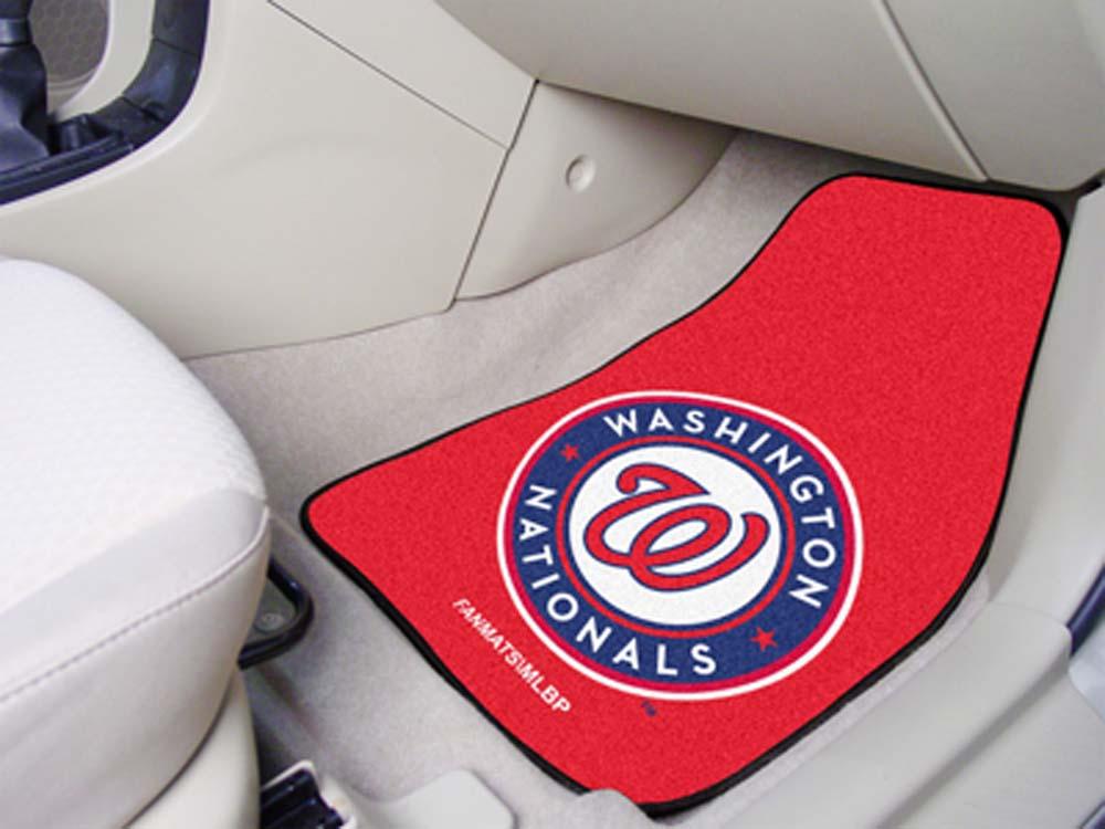 "Washington Nationals 27"" x 18"" Auto Floor Mat (Set of 2 Car Mats)"