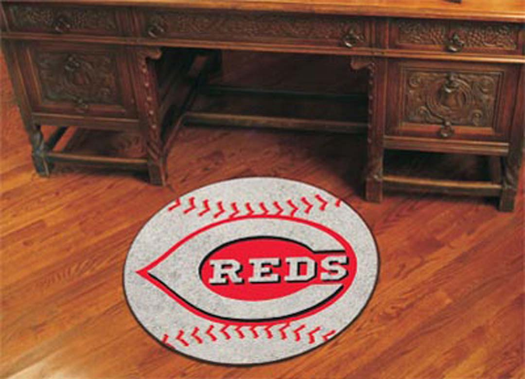 Cincinnati Reds 27 inch Round Baseball Mat