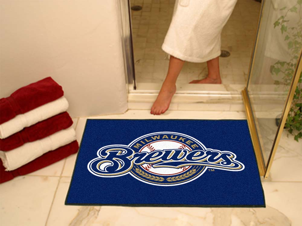 34in x 45in Milwaukee Brewers All Star Floor Mat