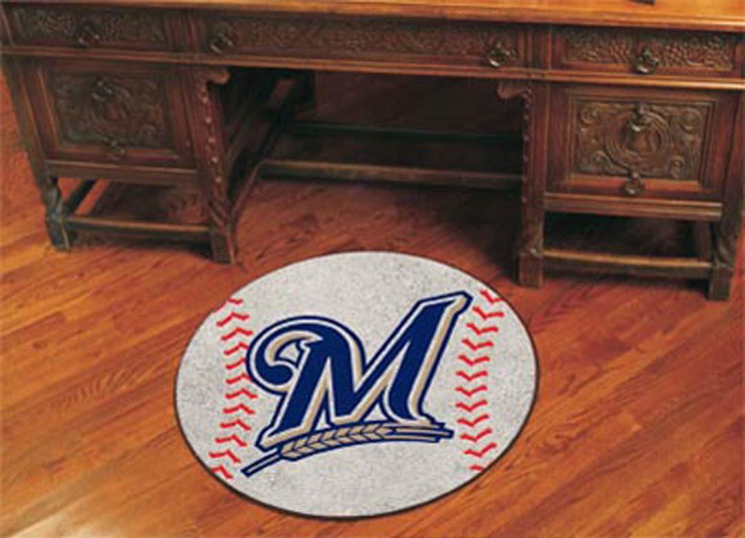27inch Round Milwaukee Brewers Baseball Mat