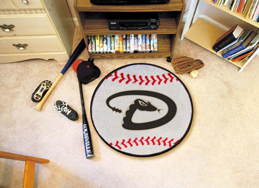27in Round Arizona Diamondbacks Baseball Mat