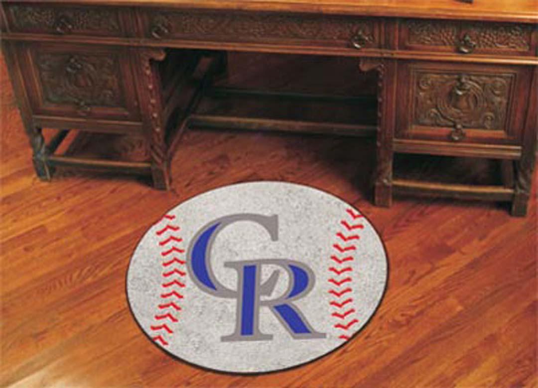 27 inch Round Colorado Rockies Baseball Mat