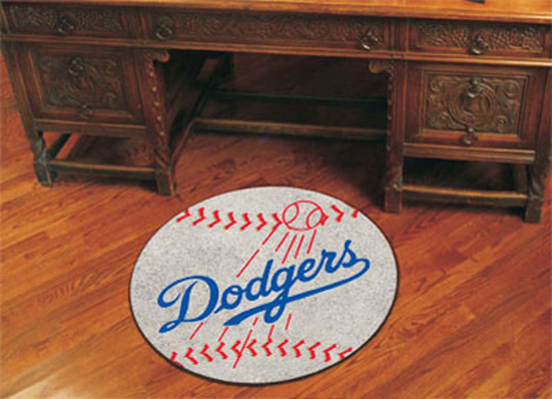 27 inch Round Los Angeles Dodgers Baseball Mat