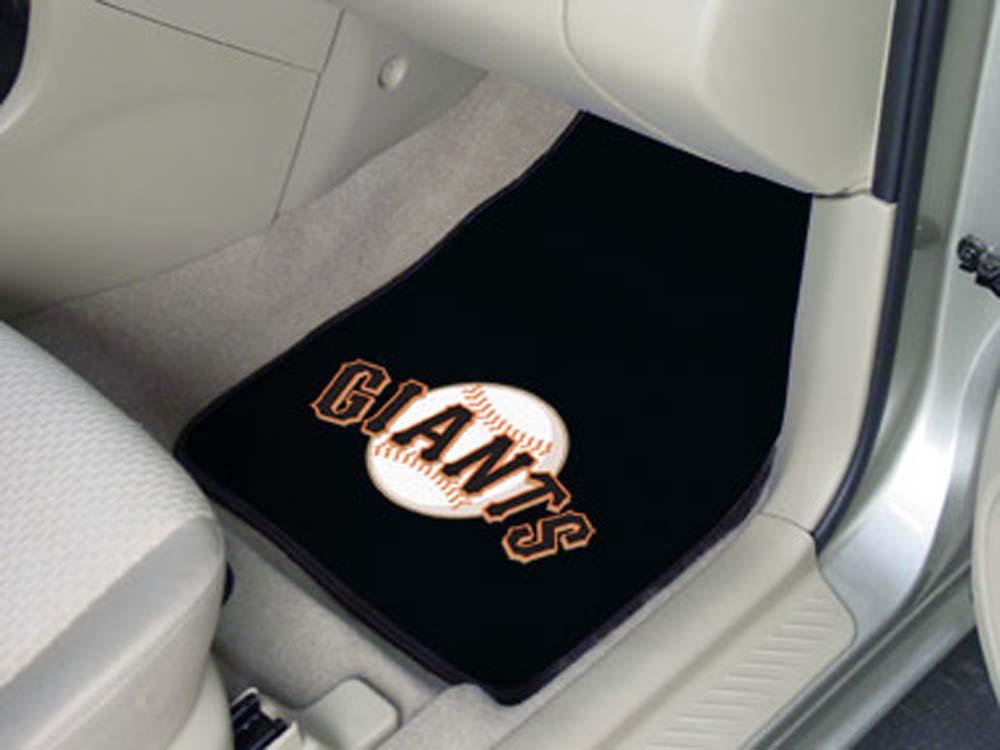 """San Francisco Giants 27"""" x 18"""" Auto Floor Mat (Set of 2 Car Mats)"""