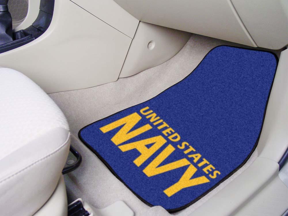 "US Navy 27"" x 18"" Auto Floor Mat (Set of 2 Car Mats)"