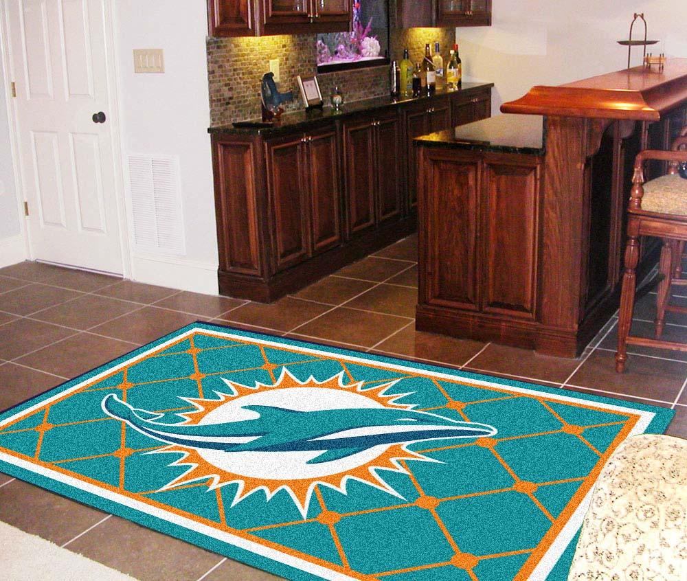 Miami Dolphins 5' x 8' Area Rug