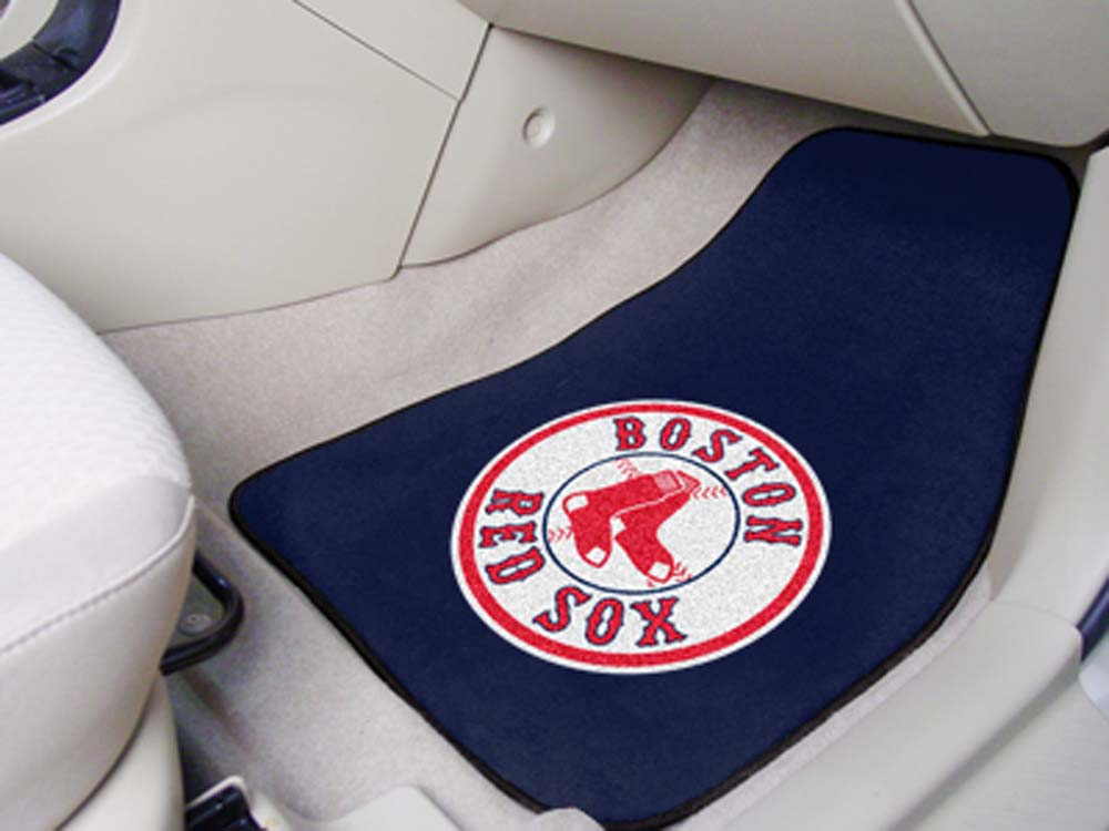 Boston Red Sox 27in x 18in Auto Floor Mat (Set of 2 Car Mats)