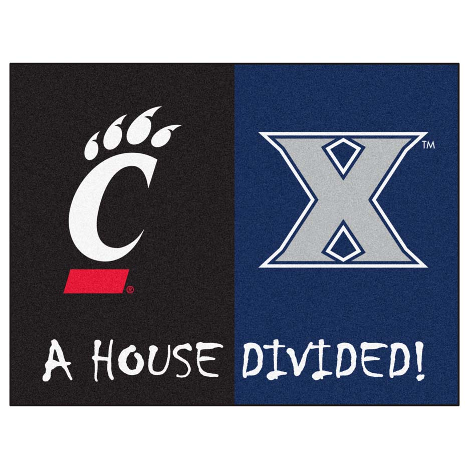 "Xavier Musketeers and Cincinnati Bearcats 34"" x 45"" House Divided Mat"
