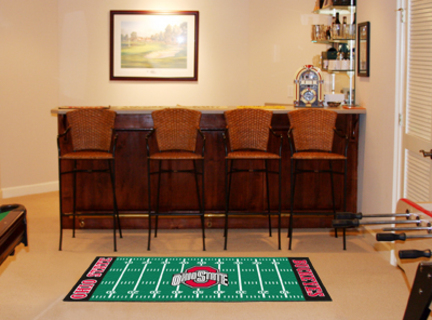 "Ohio State Buckeyes 30"" x 72"" Football Field Runner"