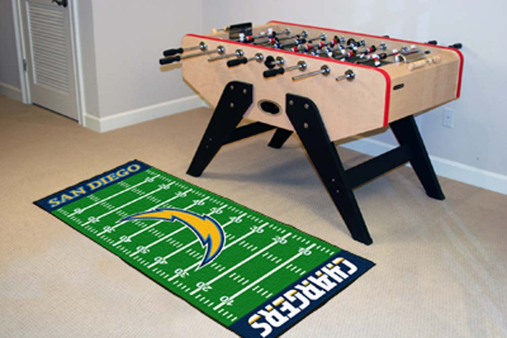 "San Diego Chargers 30"" x 72"" Football Field Runner"