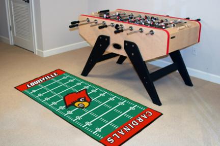 """Louisville Cardinals 30"""" x 72"""" Football Field Runner"""
