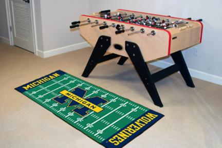 "Michigan Wolverines 30"" x 72"" Football Field Runner"