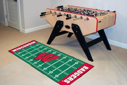 Wisconsin Badgers 30in x 72in Football Field Runner