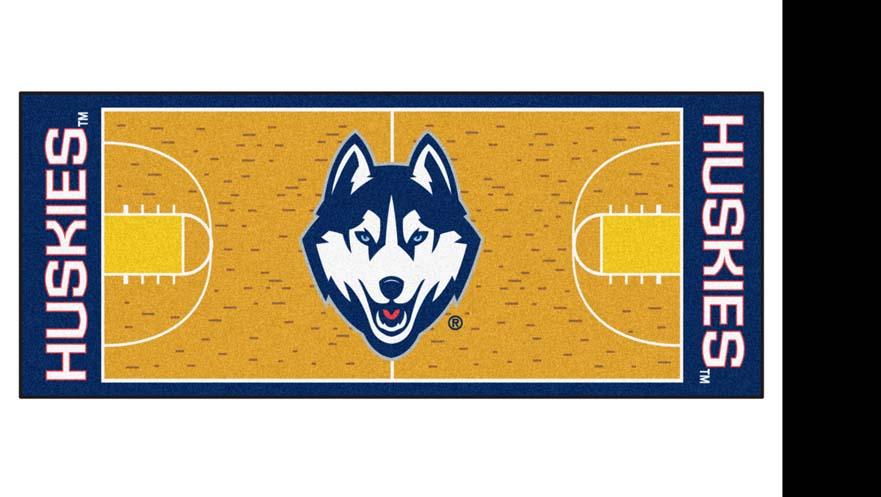 """Connecticut Huskies 30"""" x 72"""" Basketball Court Runner"""
