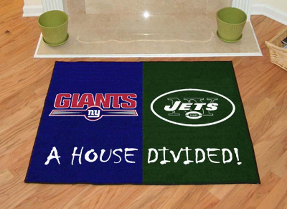 "New York Giants and New York Jets 34"" x 45"" House Divided Mat"