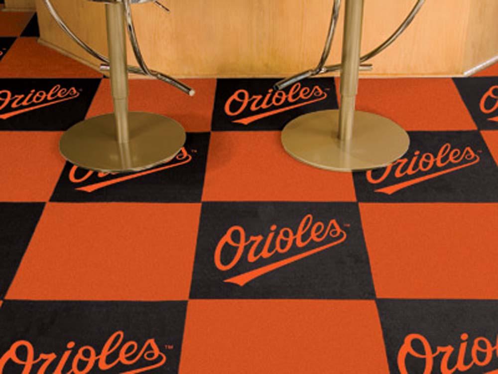 Baltimore Orioles 18in x 18in Carpet Tiles (Box of 20)
