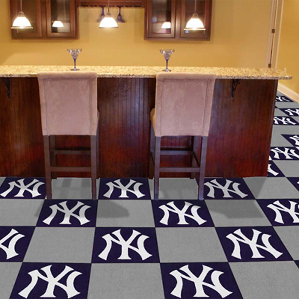 New York Yankees 18in x 18in Carpet Tiles (Box of 20)