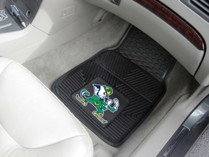 Notre Dame Fighting Irish 18in x 27in Heavy Duty 2-Piece Vinyl Car Mat Set