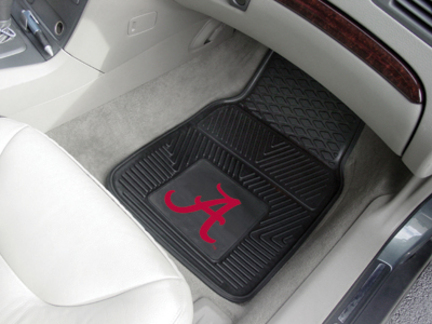 "Alabama Crimson Tide 18"" x 27"" Heavy Duty 2-Piece Vinyl Car Mat Set (Crimson 'A')"