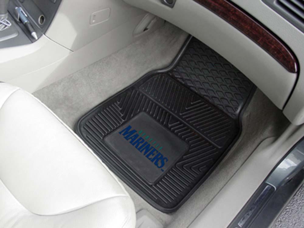 "Seattle Mariners 18"" x 27"" Heavy Duty 2-Piece Vinyl Car Mat Set"
