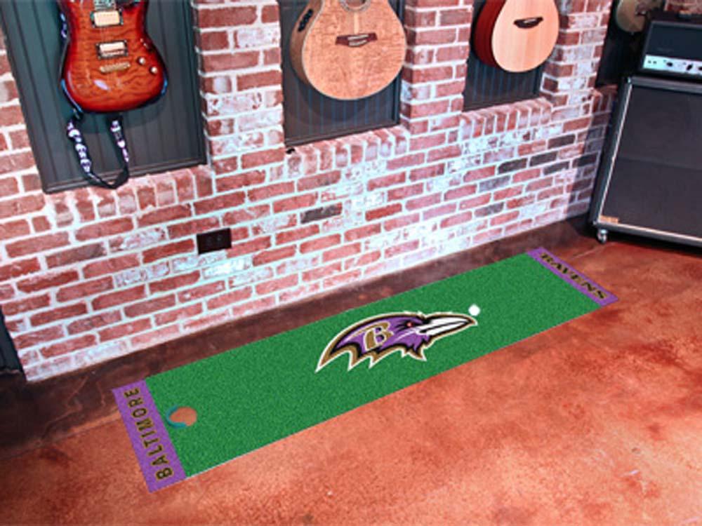 """Baltimore Ravens 18"""" x 72"""" Putting Green Runner"""
