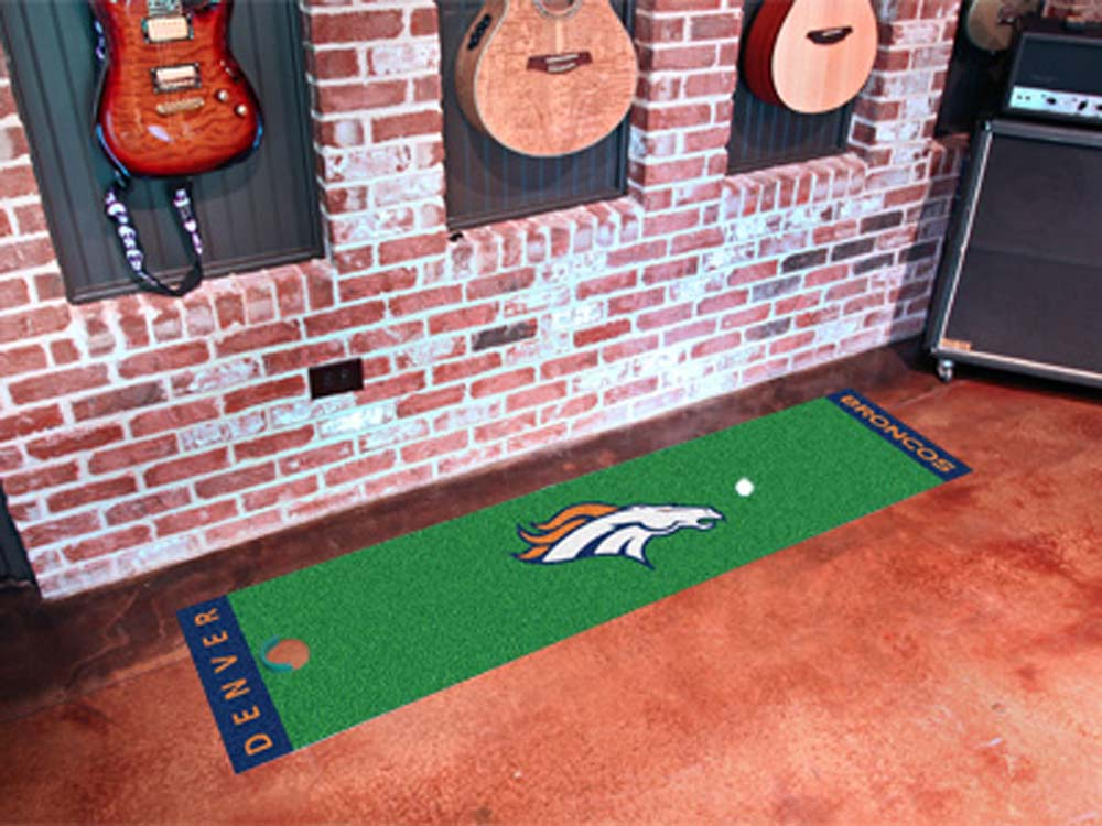 "Denver Broncos 18"""" x 72"""" Putting Green Runner"" FAN-9010"