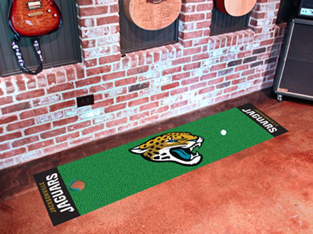 Fan Mats NFL Jacksonville Jaguars Putting NFL Green Runner FAN-9015