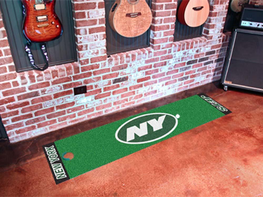 Fan Mats NFL New York Jets Putting NFL Green Runner FAN-9023