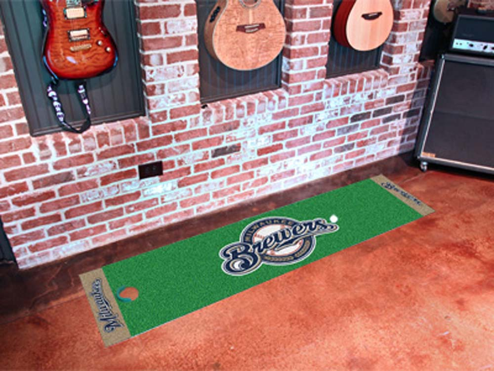 Milwaukee Brewers 18in x 72in Putting Green Runner