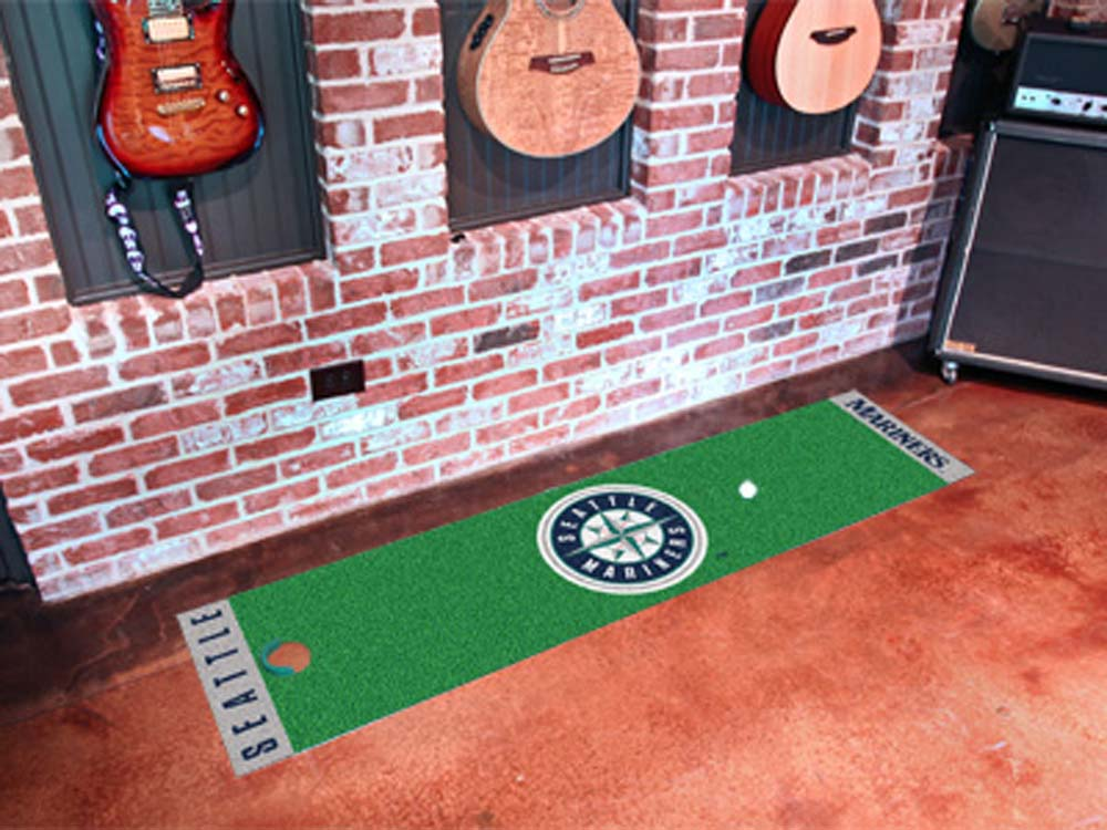 Fan Mats Mlb Seattle Mariners Putting Green Runner FAN-9043