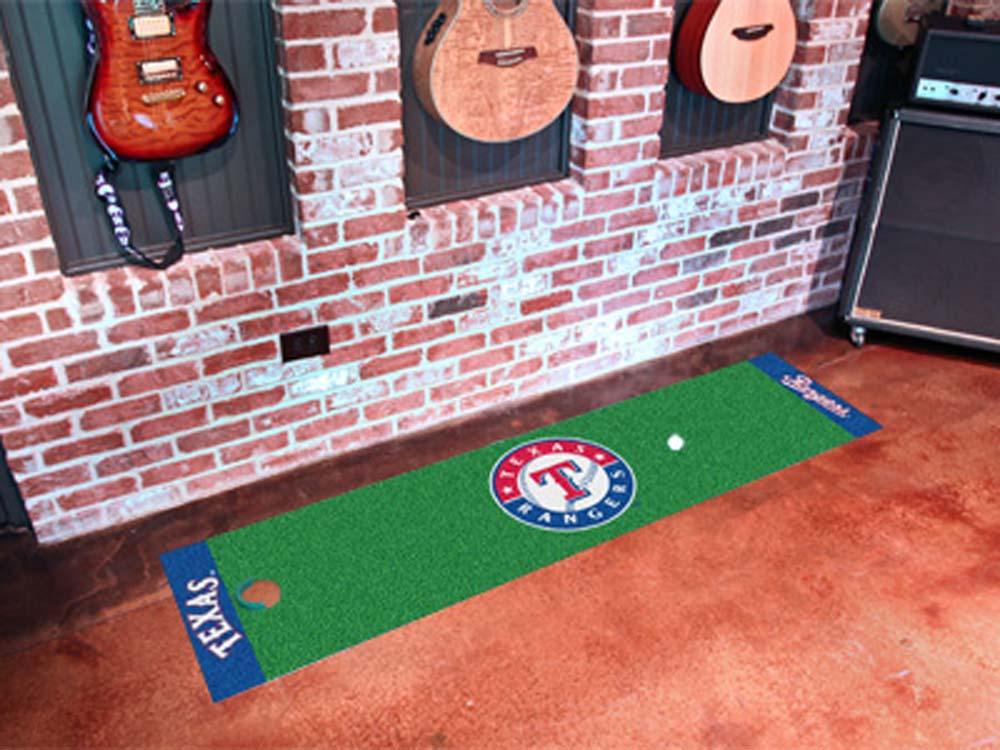 Fan Mats Mlb Texas Rangers Putting Green Runner FAN-9051