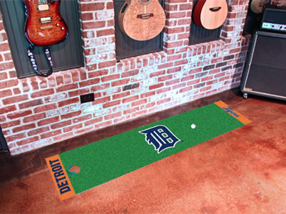 Detroit Tigers 18in x 72in Putting Green Runner