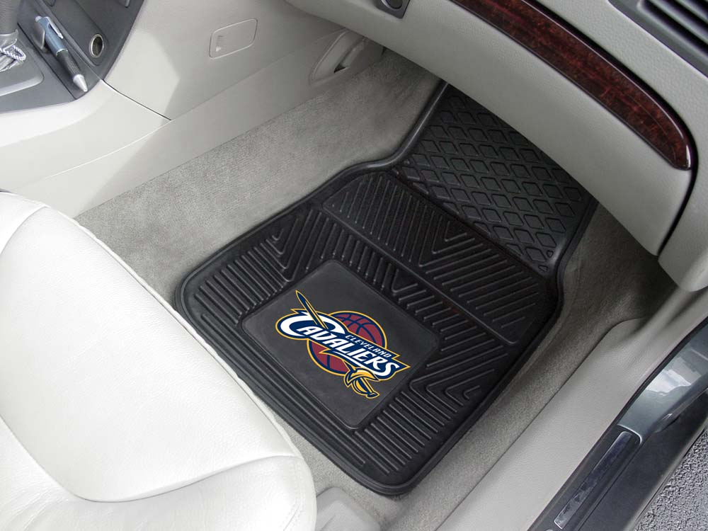 "Cleveland Cavaliers 18"" x 27"" Heavy Duty Vinyl Auto Floor Mat (Set of 2 Car Mats)"