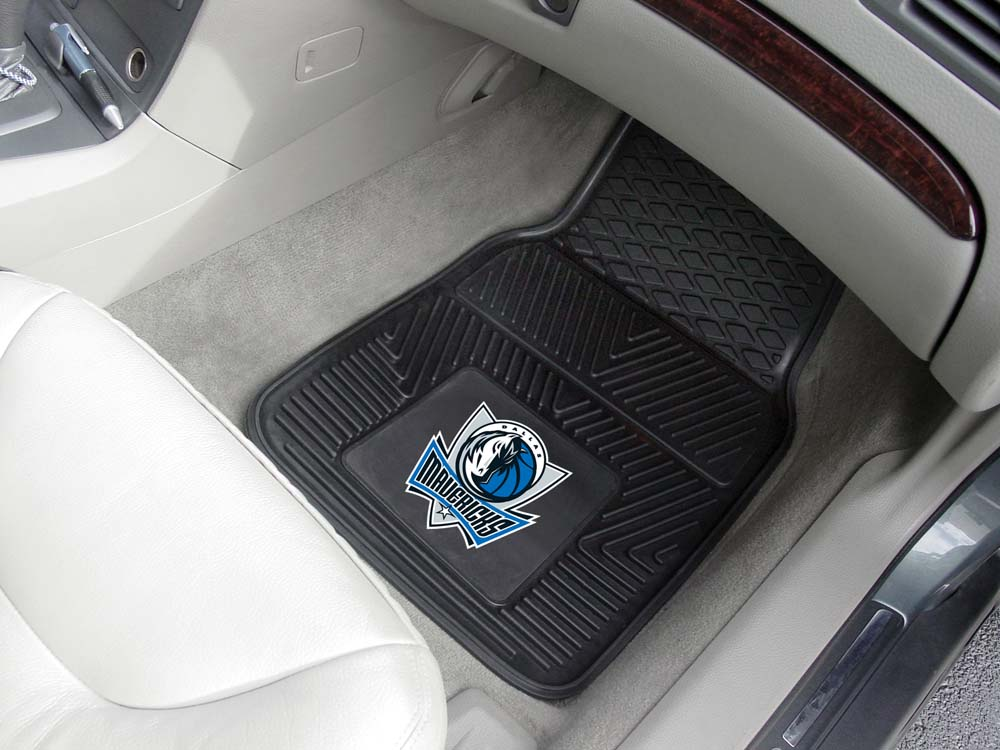 "Dallas Mavericks 18"" x 27"" Heavy Duty Vinyl Auto Floor Mat (Set of 2 Car Mats)"