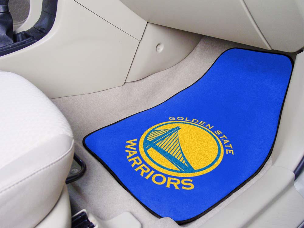 """Golden State Warriors 18"""" x 27"""" Auto Floor Mat (Set of 2 Car Mats)"""