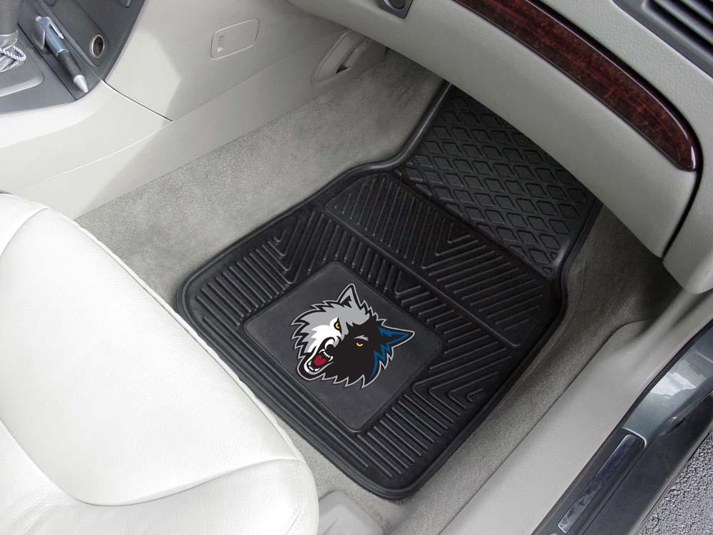 """Minnesota Timberwolves 18"""" x 27"""" Heavy Duty Vinyl Auto Floor Mat (Set of 2 Car Mats)"""