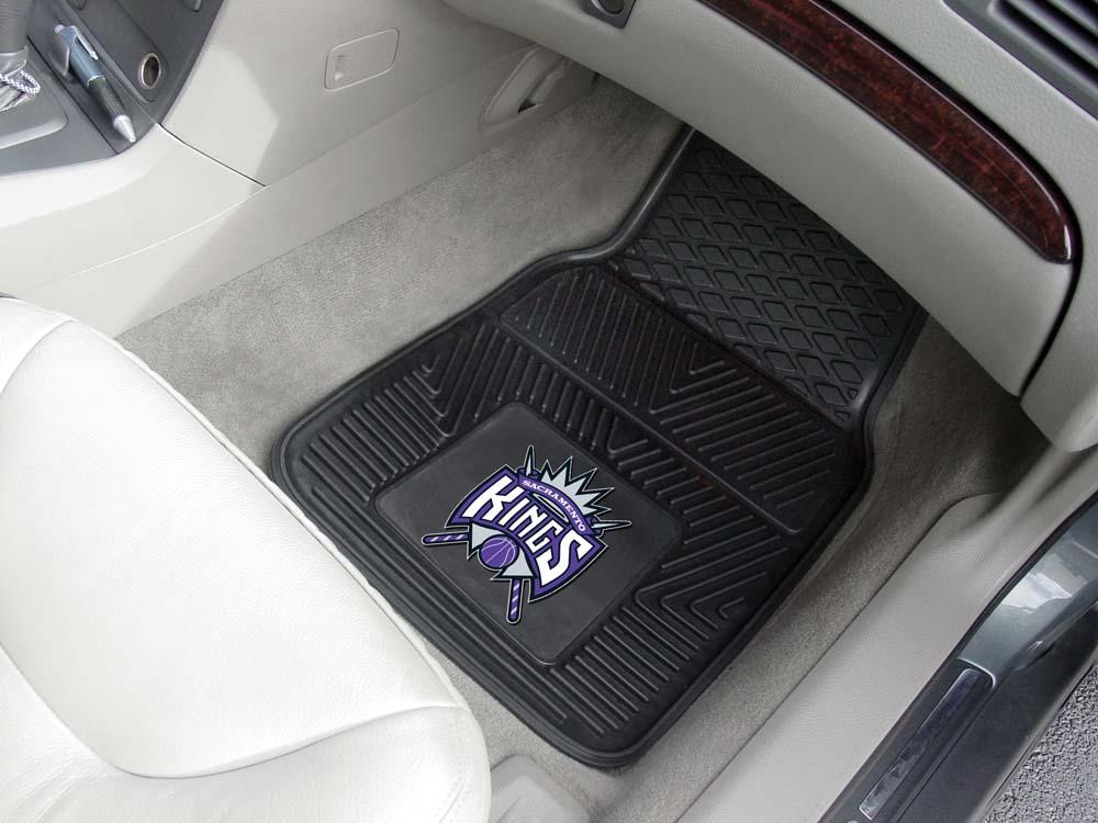 """Sacramento Kings 18"""" x 27"""" Heavy Duty Vinyl Auto Floor Mat (Set of 2 Car Mats)"""