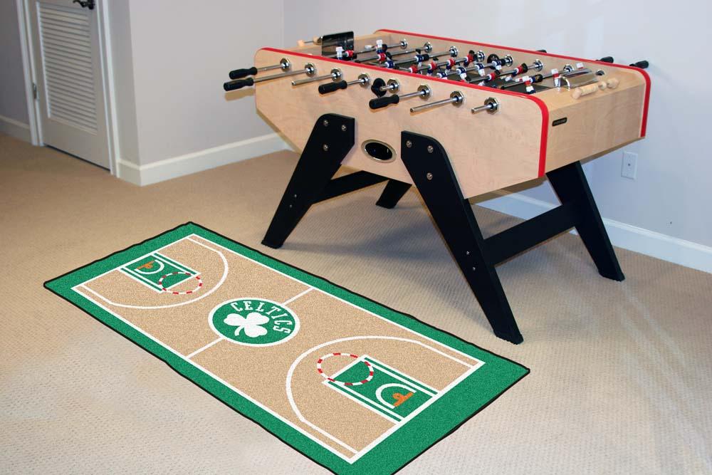 """Boston Celtics 24"""" x 44"""" Basketball Court Runner"""