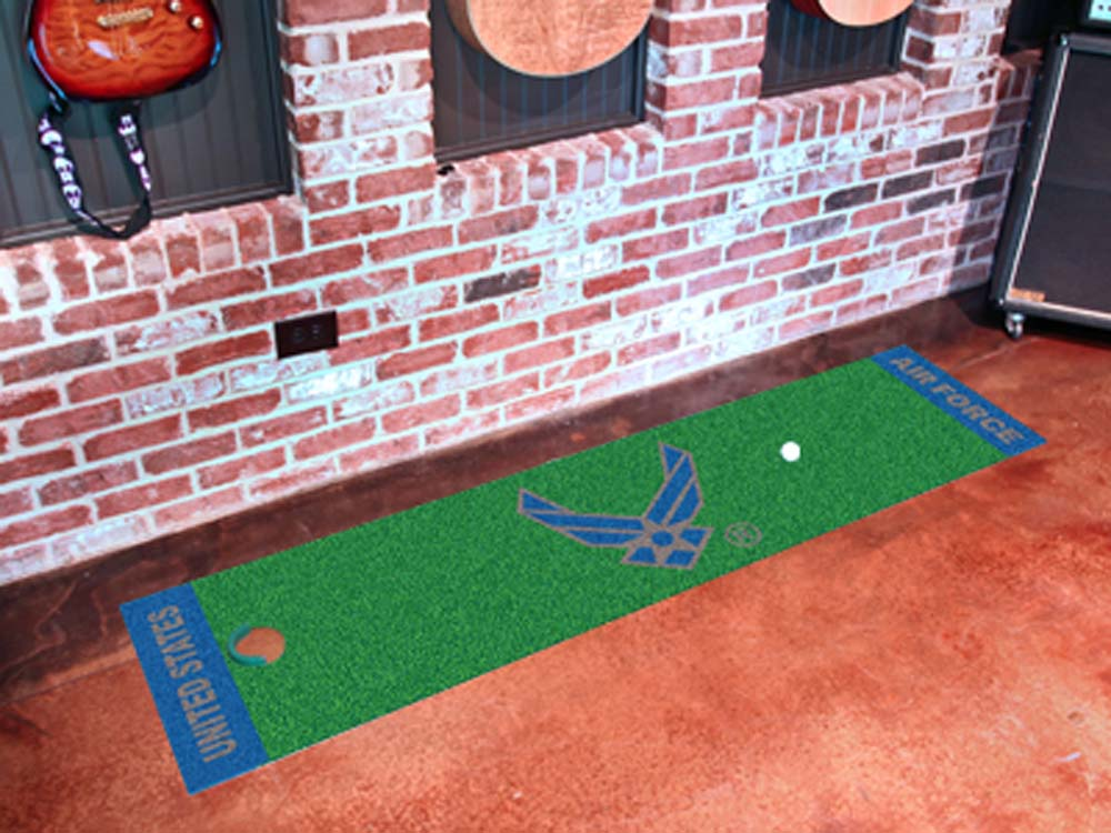 """US Air Force 18"""" x 72"""" Golf Putting Green Mat"""