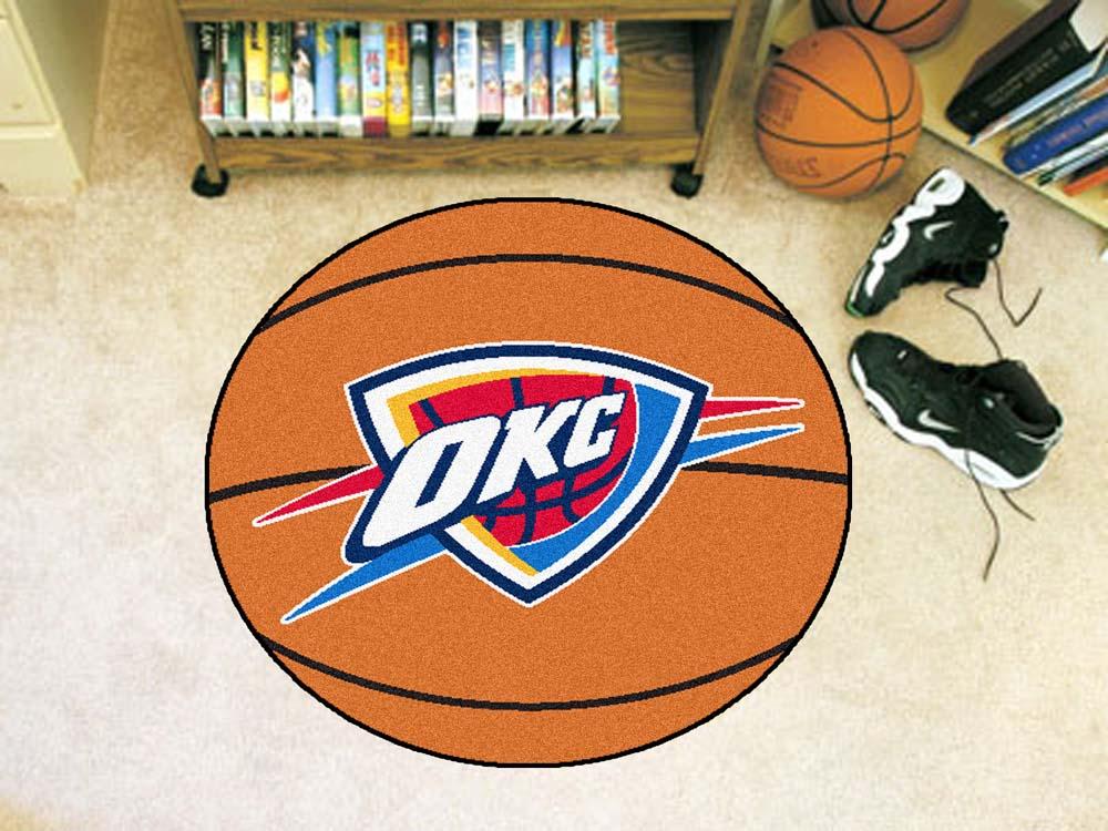 """Oklahoma City Thunder 27"""""""" Basketball Mat"""" FAN-10195"""