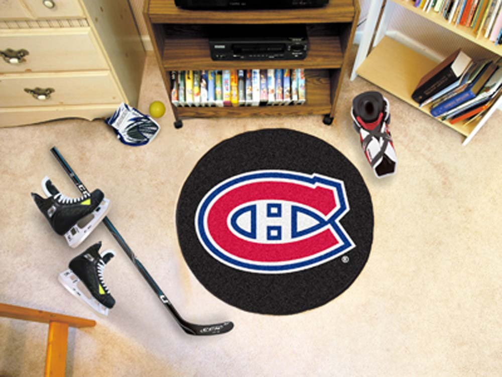 """Montreal Canadiens 27"""" Round Puck Mat"""
