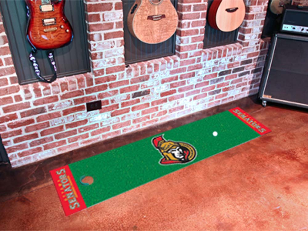 """Ottawa Senators 18"""" x 72"""" Golf Putting Green Mat"""