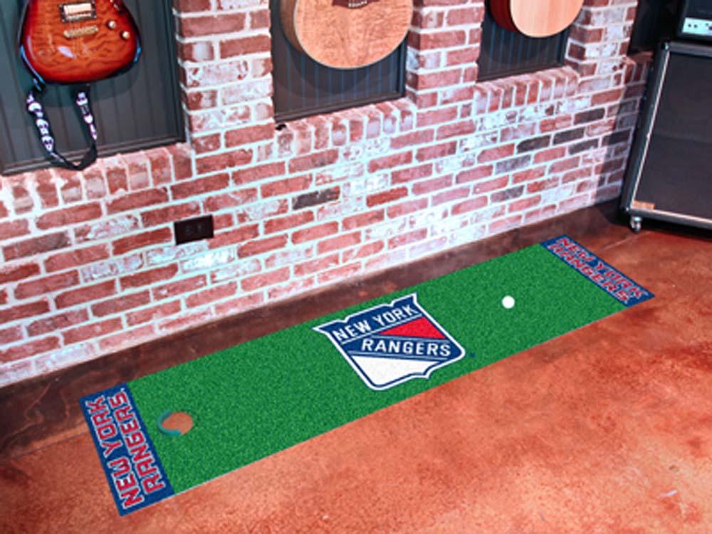 """New York Rangers 18"""" x 72"""" Golf Putting Green Mat"""