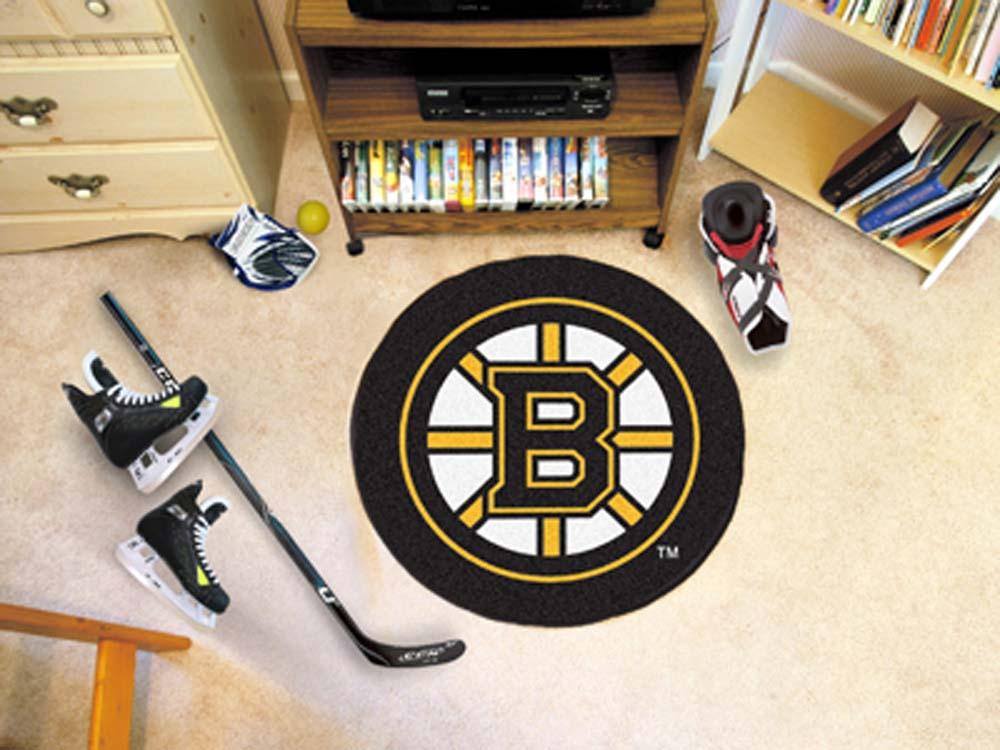 "Boston Bruins 27"" Round Puck Mat"