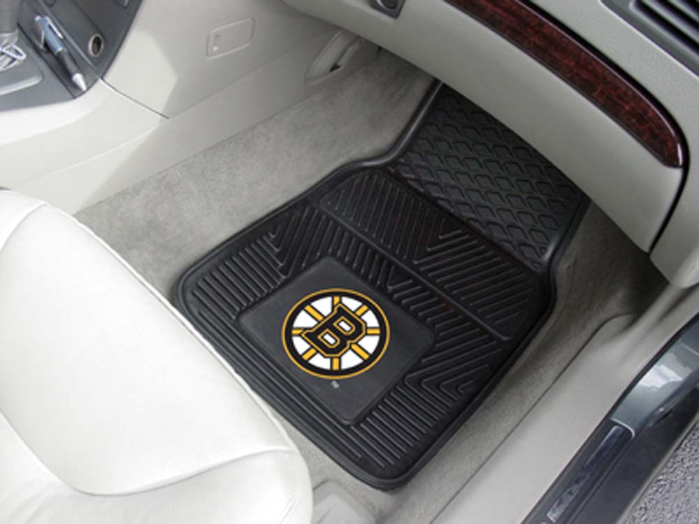 "Boston Bruins 18"" x 27"" Heavy Duty Vinyl Auto Floor Mat (Set of 2 Car Mats)"