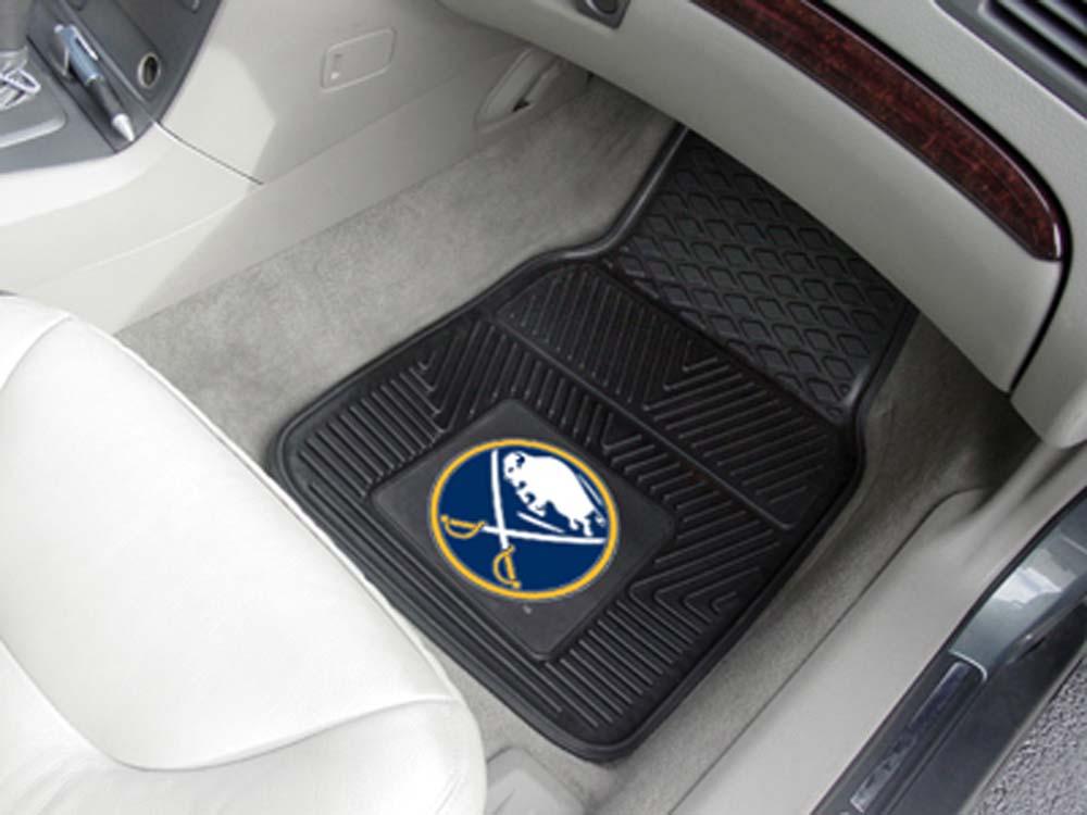 "Buffalo Sabres 18"" x 27"" Heavy Duty Vinyl Auto Floor Mat (Set of 2 Car Mats)"