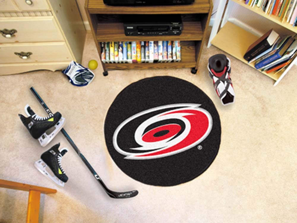 "Carolina Hurricanes 27"" Round Puck Mat"
