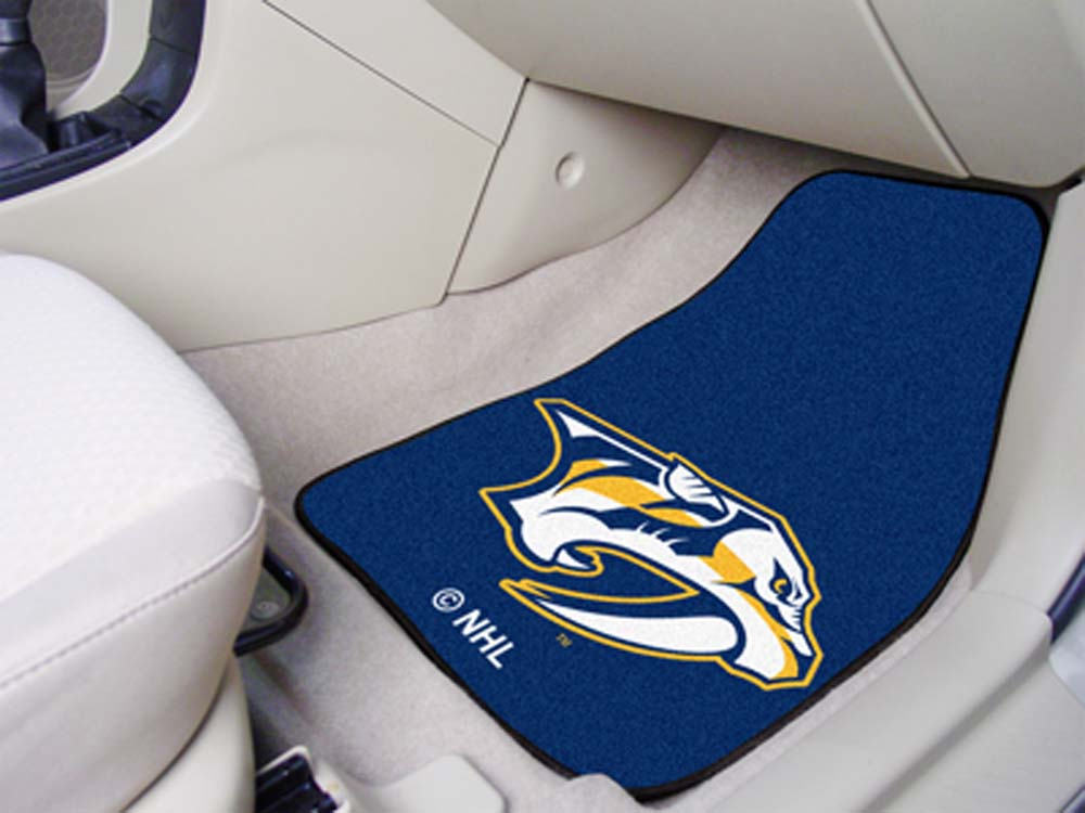 "Nashville Predators 18"" x 27"" Auto Floor Mat (Set of 2 Car Mats)"