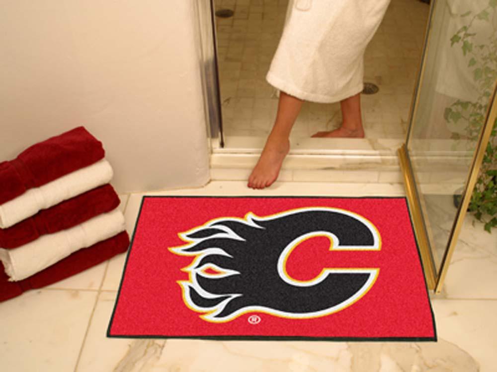 "Calgary Flames 34"" x 45"" All Star Floor Mat"